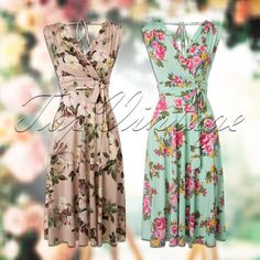 Create the perfect vintage romance look with this floral dress by Vintage Chic for TopVintage! Light Pink or Mint Green? ;-)