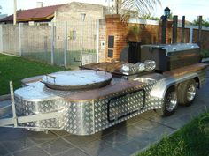Southern Yankee BBQ Concession Trailer for Sale in Texas! Bbq Smoker Trailer, Bbq Pit Smoker, Diy Smoker, Bbq Grill, Barbecue Pizza, Built In Gas Grills, Built In Bbq, Bbq Trailer For Sale, Smoker Cooker