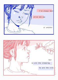 Two panels from an illustrated journal excerpt. Illustrations, Illustration Art, Vent Art, Esquivel, A Silent Voice, Wow Art, Pretty Words, Aesthetic Art, Art Journals