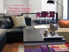 Urban Chic Living Room #indezo interior design iPad app. http://InDeZo.com