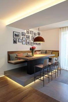 : modern kitchen by Lioba Schneider - Room Design Interior Design Boards, Furniture Design, Dining Room Design, Kitchen Design, Kitchen Ideas, Bathroom Design Layout, Bathroom Designs, Kitchen Seating, Home Decor Trends