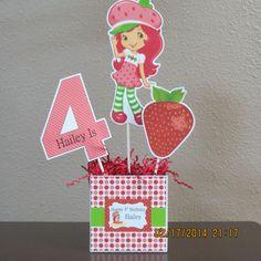 Strawberry Shortcake Centerpiece DIY by ScrapbookSolutions on Etsy, $12.00