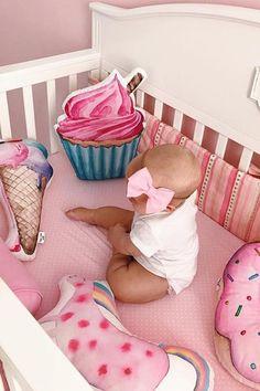 Decorative pillows to buy on Etsy - HappySpacesWorkshop - donut pillow, cupcake pillow, icecream pillow, decorative pillow, bedding,kidsroom decor, pink girls room, kids photo ideas