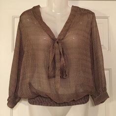 Willow & Clay Sheer Top! cinched at waist. cute tie string for however you want to! Rock this with skinny jeans and boots! Willow & Clay Tops