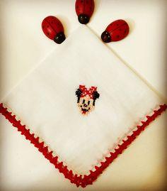 Bebek mendillerim satışta ❣ Ems, Cross Stitch Patterns, Crafts, Sew, Diapers, Dots, Needlepoint, Manualidades, Handmade Crafts