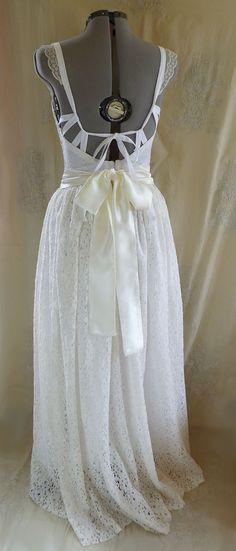 Meadow Bustier Wedding Gown... M/L... dress boho by jadadreaming
