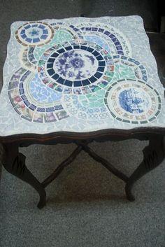 Beautiful mozaic table transformed. <3