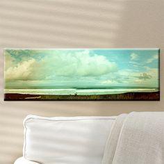 "MEDIUM: Panoramic Canvas Art 12""x36"" TITLE: Wednesday Morning LOCATION: Playa Eterillos, Costa Rica #blacksandbeach #homedecor"