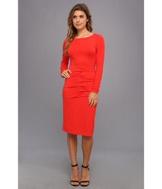 Ornament your natural beauty with the bold style of this Nicole Miller™ dress.. Stretch jersey dre...