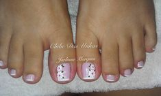 TOP Fotos e Modelos de Unhas Decoradas Pedicure Designs, Pedicure Nail Art, Toe Nail Designs, Toe Nail Art, Diy Nails, Cute Nails, Cute Pedicures, French Tip Nails, Trendy Nails