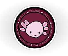 Axie Axolotl at Axolotlie on Redbubble - Sticker Axolotl, Aquarium, Art For Sale, Stickers, Cute, Blog, Design, Fashion, Sticker