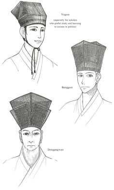 Scholar's Hats of the Joseon Dynasty - by Glimja on deviantART