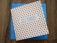 Just Married Card by AnyExcuseForBunting on Etsy, £2.00