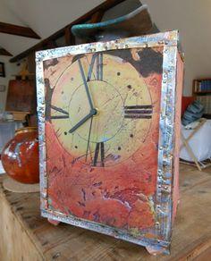 hodina - cklock Mixed Media, Clock, Handmade, Store, Decor, Watch, Hand Made, Decoration, Larger