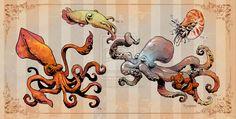 Cephalopods by BrianKesinger on DeviantArt