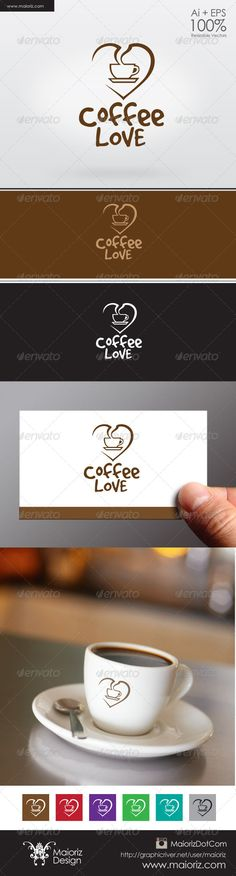 Coffee Lover Logo by maioriz File DescriptionThis is custom logo template. Illustrator (AI), Vector (EPS) logo files included in this download. You can customi