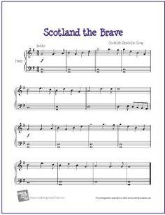 Scotland the Brave | Free Sheet Music for Harp - http://www.makingmusicfun.net/htm/f_printit_free_printable_sheet_music/scotland-the-brave-harp.htm