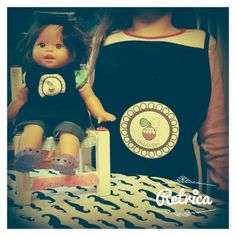Pinafore for the doll and for the birthday girl.Oh lalaSpa Bre y Clau