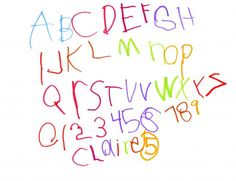 Each year, have your child write the entire alphabet and their name. Save in a keepsake box