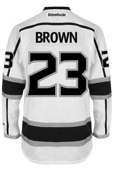41f45b3b6 Dustin Brown Los Angeles Kings 2014 Stanley Cup Champions Autographed Reebok  White Jersey with SC Champs