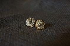 Gilded Magnolia Earrings by HendrixByDesign on Etsy, $32.00