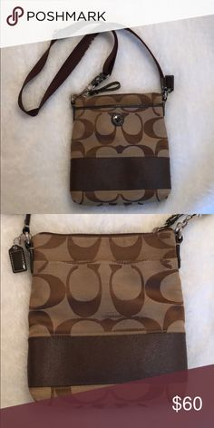 a0fbfa27efa Coach purse Very nice brown coach purse, cross body style. Like new  condition,