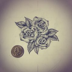 small thigh rose tattoo drawings - Google Search