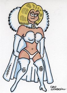Fred Hembeck Color Sketch Card: White Queen (Marvel)1/1