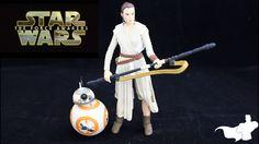 "Star Wars: The Force Awakens Black Series 6"" Rey & BB-8 Action Figure Re..."