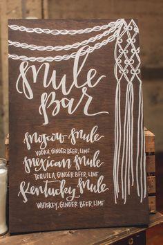 drink menu, photo by Continuum Photography http://ruffledblog.com/boho-san-diego-wedding #weddingsign #signs