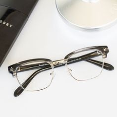 798ca74f6d3 Make a bold statement with these  DerekCardigan 7010 Grey Haze eyeglasses.  These browline style