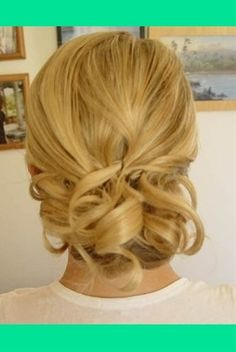 this is a pretty/simple Updo for medium/short hair, also could be good as a wedding hair
