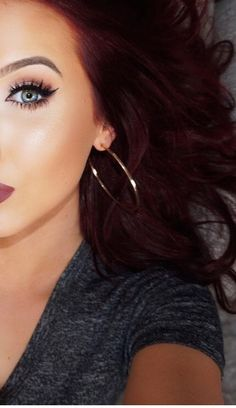 beautiful dark burgundy hair                                                                                                                                                      More