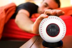 I love the idea that in a fit of early morning pique, you can throw your alarm clock across the room.  (I have wanted one of these for years - horrible to look at, but such fun!)