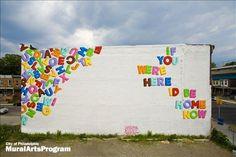 Mural by Stephen Powers - 5101 Market St, Philadelphia, Pennsylvania