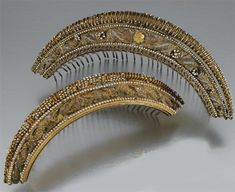 """""""These two Empire diadems, c. 1800, sold at Sotheby's for $5888 on July 22, 2008."""""""