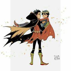 Album Jondami-Damijon - - Page 2 - Wattpad Batman Y Superman, Superman Family, Batman Robin, Damian Wayne, Super Sons, Bat Boys, Superhero Kids, Dc Memes, Bat Family