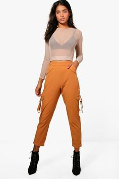 950728f56b Kiera Pocket Side Luxe Utility Trousers Parachute Pants, Pocket, Dresses,  Boohoo, Fashion