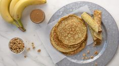 Take these flourless pancake and almond butter roll-ups on the go.