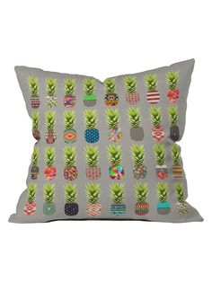 Pineapple Party Throw Pillow from pineapple on Gilt