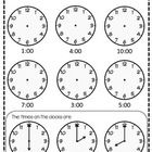 This is a simple worksheet I did for my grade 1's to complete for telling time to the hour.  It requires students to put the clock hands on for ana...