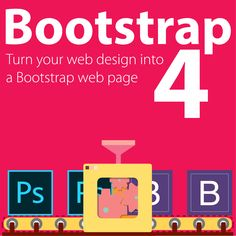 Video course on Bootstrap 4 - learn Bootstrap's responsive navigation, grid, containers, rows and columns. See more here http://skl.sh/2yOx5Wh