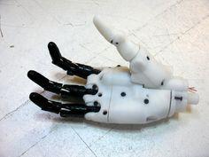 InMoov finger prosthetic project by Gael_Langevin - Thingiverse Futuristic Robot, Robot Hand, Robot Design, Military Equipment, Inktober, 3d Printing, Finger, Robots, Interesting Stuff