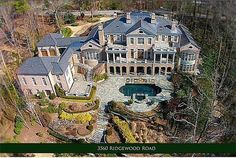 View 1 photos for 3560 Ridgewood Rd Nw, Atlanta, GA 30327 a 7 bed, 11 bath, acres. single family home built in 2003 that sold on Mega Mansions, Mansions Homes, Exotic Homes, Luxury Homes, Extravagant Homes, Dream Mansion, Villa, Million Dollar Homes, Beautiful Architecture