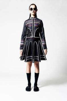 Design by James Long, no model ID.  I like the outlines and shape created by the skirt.