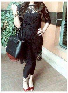 Net Dresses Pakistani, Black Pakistani Dress, Pakistani Fashion Party Wear, Pakistani Dress Design, Sleeves Designs For Dresses, Dress Neck Designs, Stylish Dress Designs, Stylish Dresses, Casual Indian Fashion