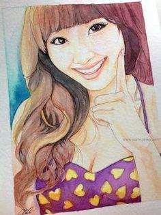 Son Ga In -- Brown Eyed Girls fan art painting by antuyetlai on DeviantArt