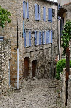 Blue Shutters, Forcalquier, Provence-Alpes-Cote d'Azur