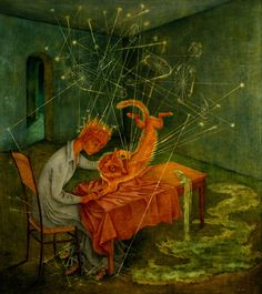 Simpatía-1955 by Remedios Varo