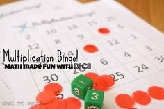 School Time Snippets: Multiplication Bingo Game